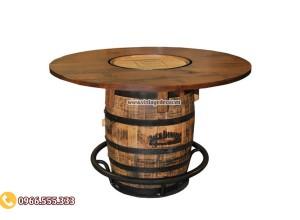 Mẫu bàn thùng rượu trang trí cổ điển DL03