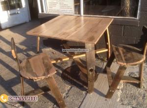 Mẫu bộ bàn ghế cổ Retro điển phòng ăn BG05