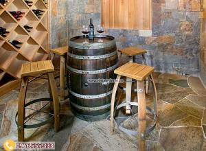 Mẫu bộ bàn ghế trang trí hầm rượu cổ điển BG14
