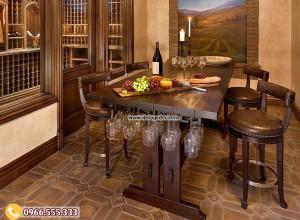 Mẫu bộ bàn ghế phòng ăn gia đình cổ điển BG15