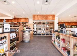 Mẫu thiết kế cửa hàng rượu vang hiện đại sang trọng CHR12