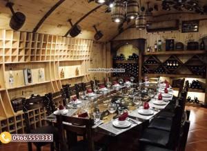 2018 nở rộ xu hướng thiết kế hầm rượu, nhà hàng hầm rượu tại Hà Nội