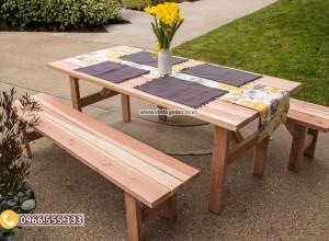 Mẫu bộ bàn ghế ăn ngoài trời BG63
