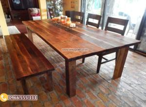 Mẫu bộ bàn ghế phòng ăn gia đình đẹp BG67