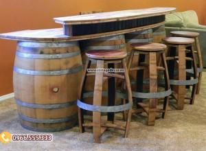 Mẫu bộ bàn Bar thùng rượu DL10