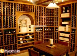 mẫu thiết kế hầm rượu vang cổ điển đẹp HR85