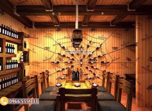 Mẫu nhà hàng hầm rượu phong cách cổ điển BR59