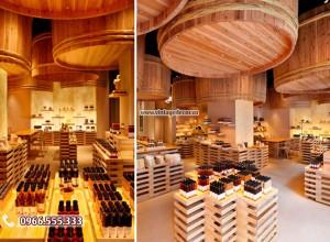 Mẫu showroom trưng bày rượu vang đẹp SR27