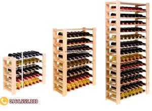 Mẫu kệ trưng bày rượu vang tùy chỉnh TBR46