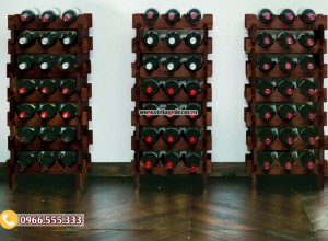 Mẫu kệ rượu vang tùy chỉnh gỗ sồi TBR50