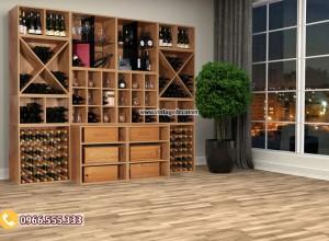 Mẫu tủ rượu vang gỗ sồi đẹp TBR36