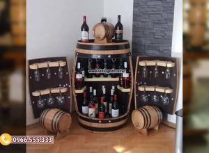 Mẫu tủ thùng rượu vang đa năng DL40