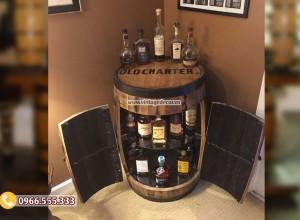 Mẫu tủ trống thùng rượu đa năng DL47