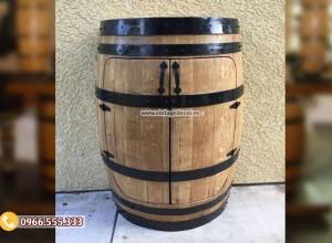 Mẫu tủ thùng trống rượu 2 cánh đa năng DL49