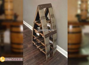 Mẫu kệ chữ A từ thùng rượu gỗ sồi DL36