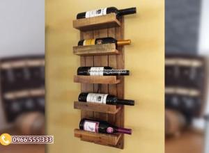 Mẫu kệ rượu gắn tường đẹp KR30