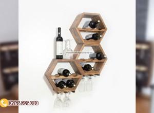 Mẫu kệ rượu treo tường tùy chỉnh KR27