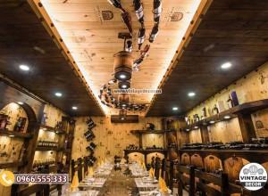 Mẫu trang trí nhà hàng hầm rượu đẹp BR85