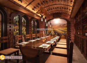 Mẫu phong Vip nhà hàng hầm rượu BR86