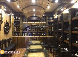 Mẫu thi công nhà hàng hầm rượu cổ điển BR90