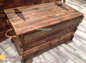 Mẫu hộp rương gỗ thông đơn giản hà nội RG17