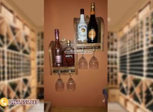 Mẫu kệ rượu thiết kế phong cách hiện đại chắc chắc TBR102