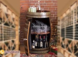 Mẫu kệ rượu từ thùng rượu  đẹp KR51