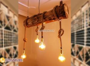 Mẫu đèn gỗ trang trí DG102
