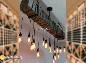 Mẫu đèn trang trí phòng khách bằng gỗ DG105