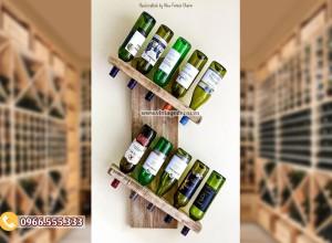 Mẫu kệ rượu vang treo tường TBR179