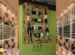 Mẫu kệ rượu treo tường đẹp TBR180