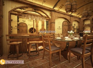 Thiết kế nhà hàng hầm rượu sao cho hoàn hảo