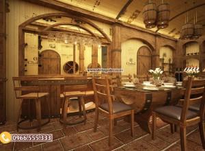Dự án thiết kế nhà hàng hầm rượu uy tím tại hà nội