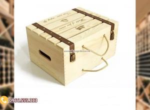 Mẫu hộp đựng rượuvang bằng gỗ đẹp HDR81