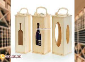Mẫu hộp gỗ đựng rượu quà tặng nhỏ HDR84