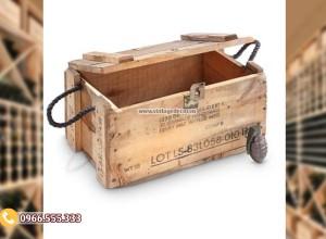 Mẫu hộp đựng rượu đơn giản bằng gỗ HDR85