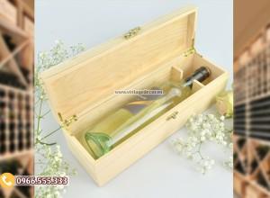 Mẫu hộp đựng rượu bằng gỗ đẹp HDR90