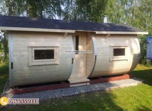 Mẫu nhà gỗ rừng thông di động thông minh NB74