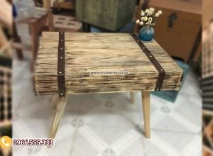 Mẫu  bàn rương gỗ bọc viền da RG69