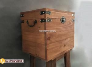 Mẫu rương gỗ thông để đồ đơn giản RG86