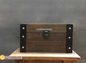 Mẫu rương gỗ sồi vintage cổ điển RG87