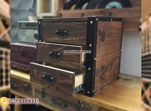Mẫu tủ rương gỗ để đồ có ngăn RG91