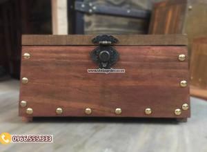 Mẫu rương gỗ sồi để kho báu RG92