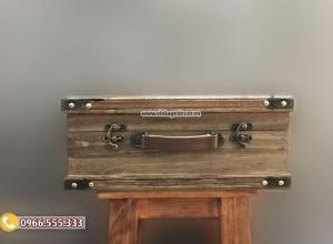 Mẫu rương gỗ thông cổ điển để đồ RG98