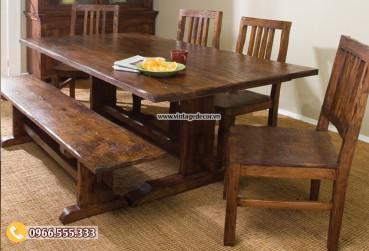 Mẫu bộ bàn ghế gia đình gỗ trắc BG71