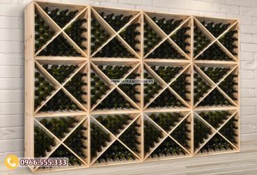 Mẫu kệ lắp ghép lưu trữ rượu vang TBR57