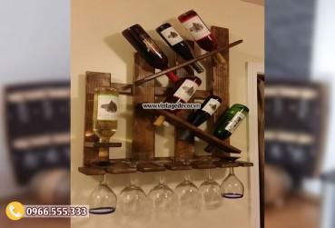 Mẫu kệ rượu treo tường Decor KR44