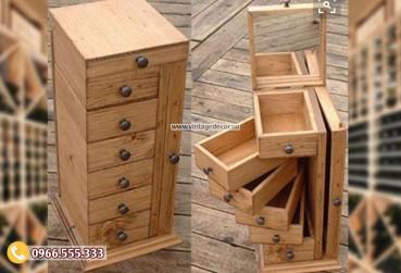 Mẫu rương gỗ để bàn phong cách RG53