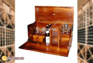Mẫu rương gỗ để rượu phong cách hiện đại RG49