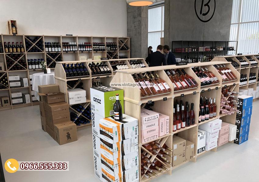 Mẫu thiết kế cửa hàng rượu vang đẹp CHR20
